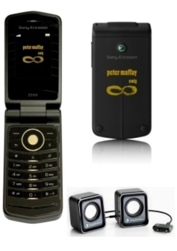Sony Ericsson Z555i Peter Maffay Edition Z 555 Handy mit Lautsprecher und Ladegerät !! (Ma1)