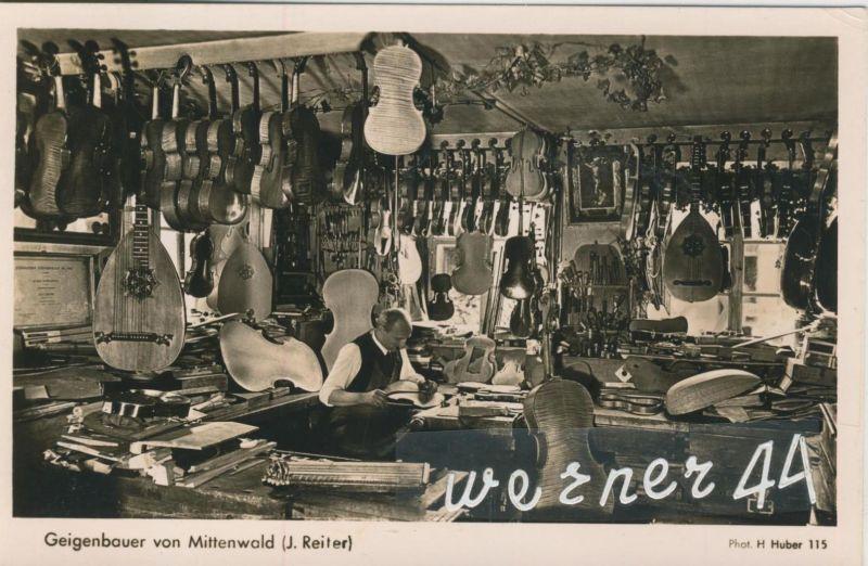 Mittenwald v. 1950  Geigenbauer J. Reiter  (50489)