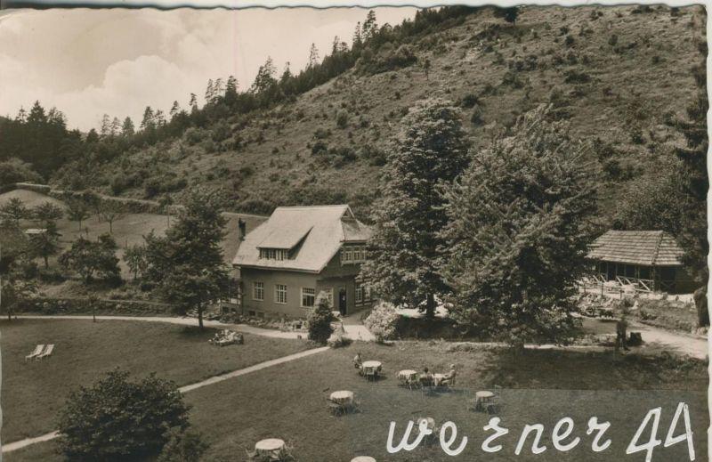 Wildbad / Schwarzwald v. 1958  Wald,Cafe Gaststätte