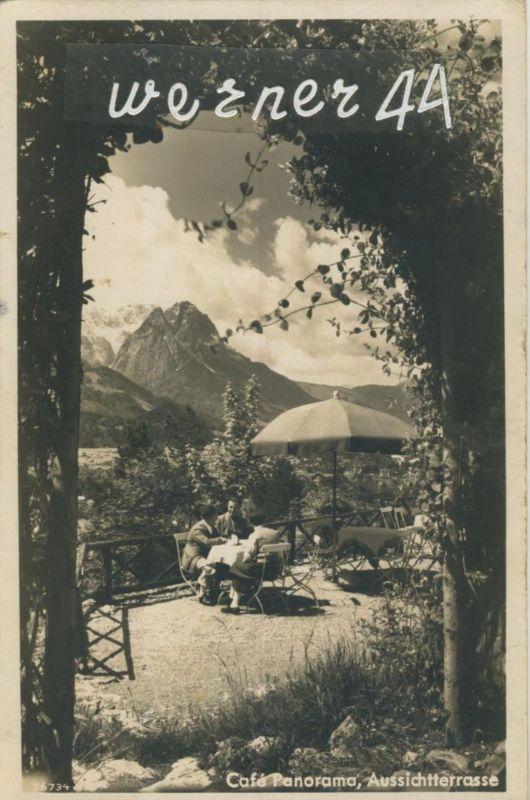 Garmisch-Partenkirchen v. 1954  Cafe Panorama,Aussichtsterrasse  (50486)