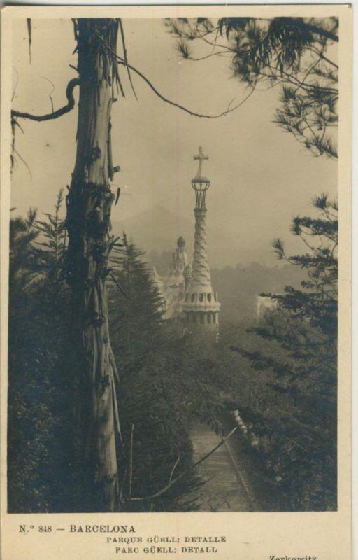Barcelona v. 1925  Parque Güell: Detalle  (50952)