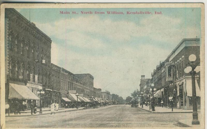 Kendallville v. 1914  Main St. North from William  (50937)