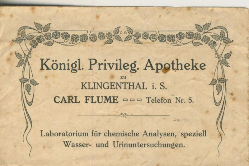 Klingenberg v. 1910 Königl. Privileg. Apotheke, Inh. Carl Flume (51314)