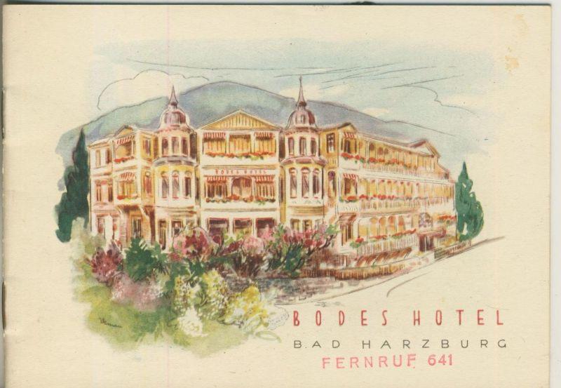Bad Harzburg v. 1955  Bodes Hotel  (51347)