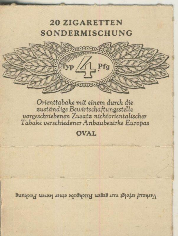 Oval Zigaretten Sondermischung - Typ 4 Pfg. ca. von 1944/45  (51372)