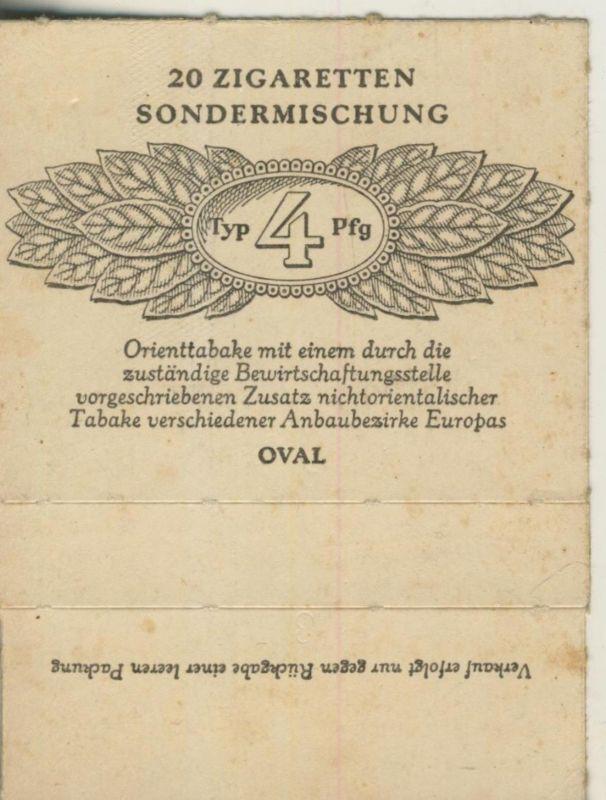 Oval Zigaretten Sondermischung - Typ 4 Pfg. ca. von 1944/45  (51371)