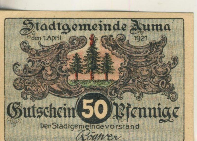 Auma v. 1921  50 Pfennig  - Pilzesammler  ( GUTSCHEIN )   (51808)