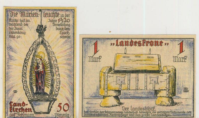 Landkirchen auf Fehmarn o.D.   1/2,- 1,- Mark   ---   ( GUTSCHEIN )   (51815)