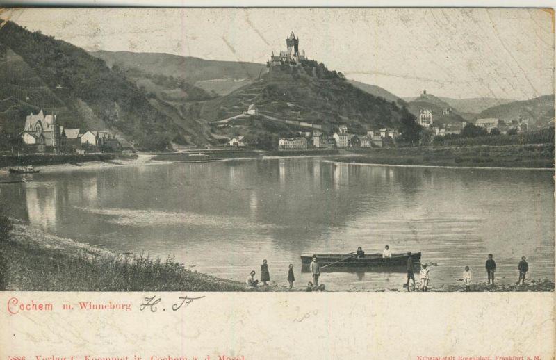 Cochem v. 1905  Dorfansicht mit Winneburg  (52061)