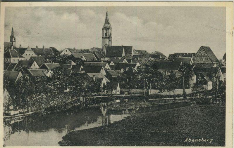 Abensberg v. 1936  Teil-Dorf-Ansicht  (52065)