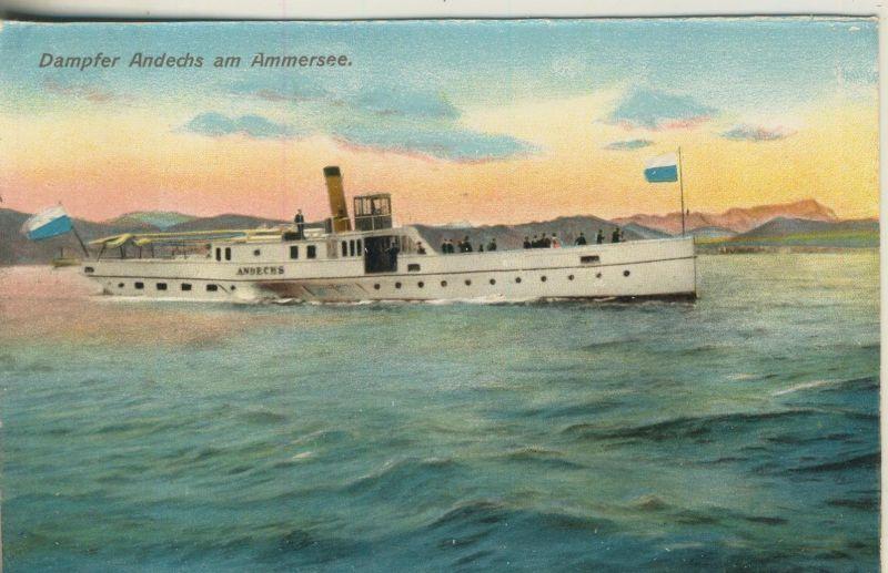 Ammersee v. 1928  Dampfer Andechs  (52067)