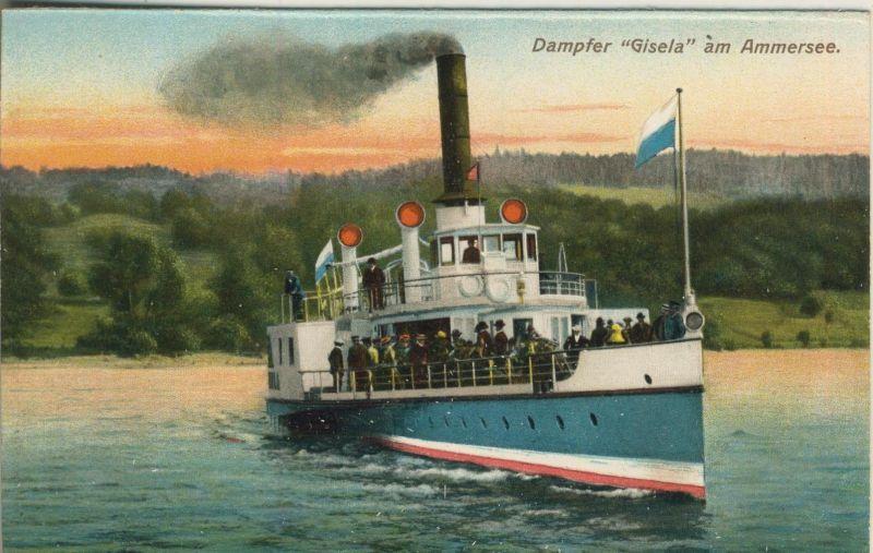 Ammersee v. 1928  Dampfer Gisela  (52068)