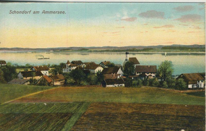Schondorf am Ammersee v. 1928  Dorfansicht  (52072)
