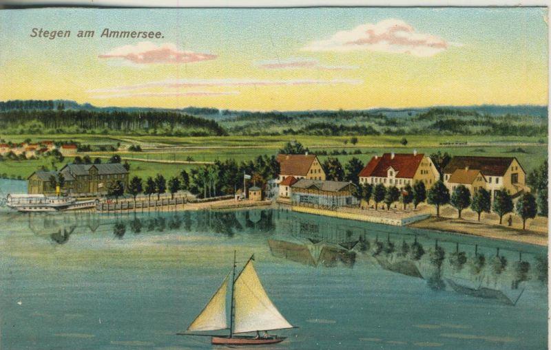 Stegen am Ammersee v. 1928  Dorfansicht  (52073)