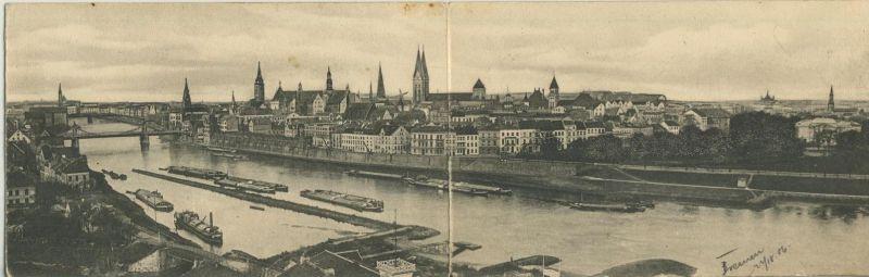 Bremen v. 1906  Teil-Stadt-Ansicht (Doppelklappkarte)   (52078)