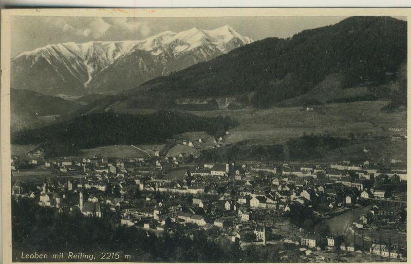 Leoben v. 1939  Teil-Stadt-Ansicht  (52084)