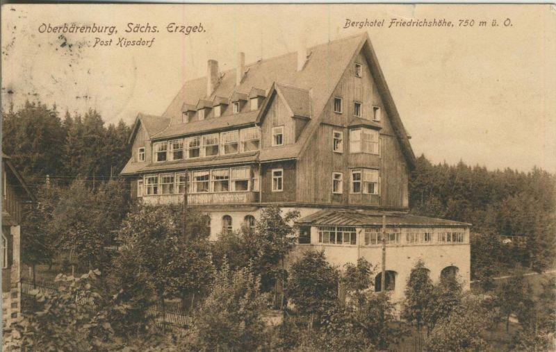 Oberbärenburg v. 1921  Berghotel Friedrichshöhe  (52179)