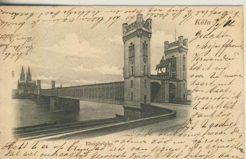 Köln v. 1902  Die Rheinbrücke (52958)