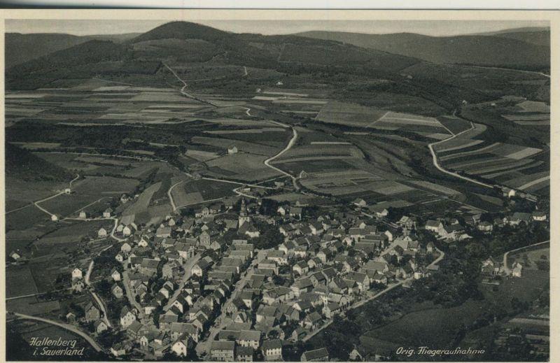 Hallenberg i. Sauerland v. 1938  Orig. Fliegeraufnahme  (52964)