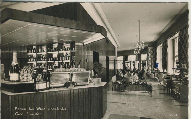 Baden bei Wien v. 1964  Cafe Ebruster  (52966)