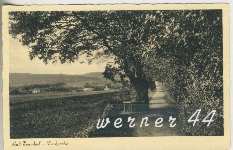 Bad Nenndorf v.1954 Parkpartie mit Siedlung  (4360)