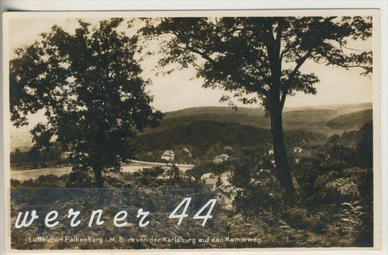 Luftkurort Falkenberg i. M.  v.1938 Dorfansicht mit Restaurant