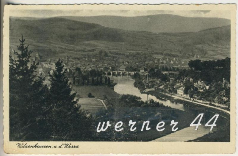Witzenhausen a.d. Werra v.1938 Stadtansicht (4387)
