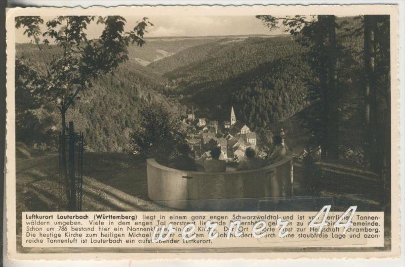 Lauterbach v.1938 Dorfansicht im engen Schwarzwaldtal (4390)