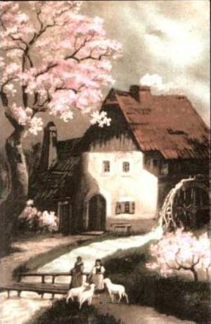 Mühle am Bach v.1918 siehe Foto !! (14614)