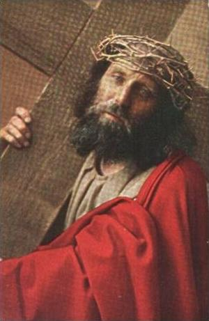 Oberammergau v.1922 Jesus kreuztragend (15662)