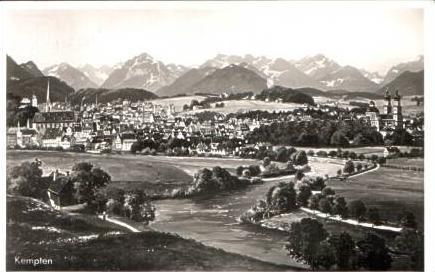 Kempten v.1938 Stadtansicht (15692)