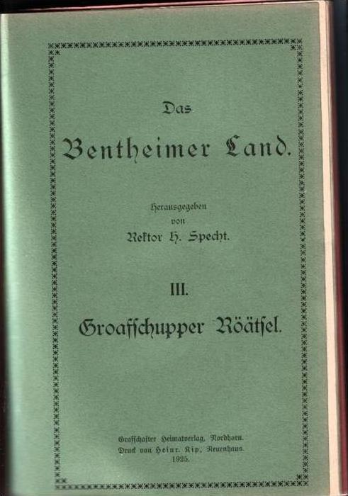 Das Bentheimer Land Nr. 1-4+7 von 1925-1932 - Bentheim-Gildehaus - siehe beschr, !!  (0005)