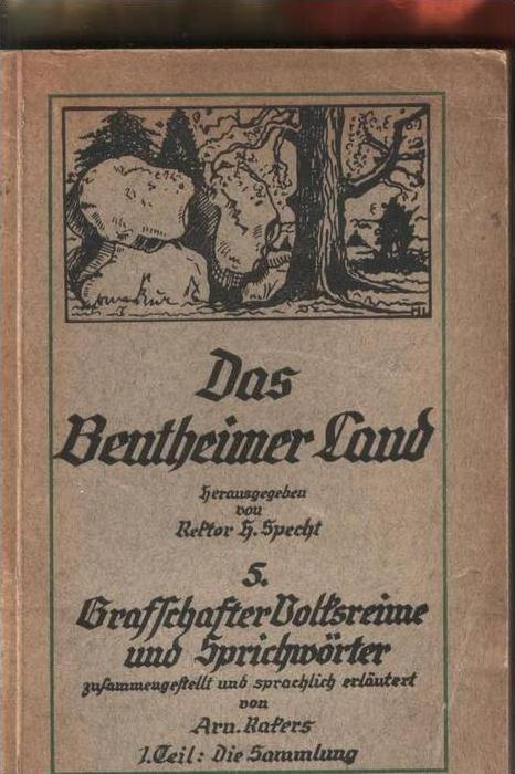 Bentheimer Land von 1930  5. Grafschafter Volksreime alle Orte - siehe Foto !!   (0004)