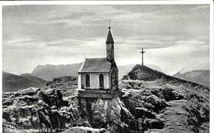 Hochgerngipfel v.1936 Hochgernhaus .(15843)