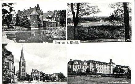 Herten v.1958 4 Ansichten (15851)