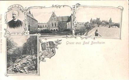 G. a. Bad Bentheim v.1904 4 Ansichten (15853-04)