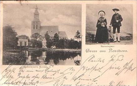 G. a. Nordhorn v.1898 Kirche & TRACHT !!! (15853-05)