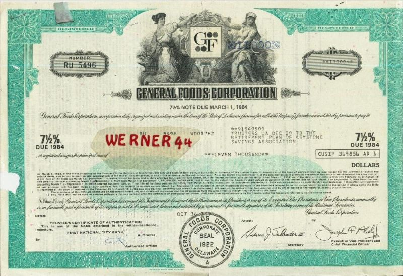 General Foods Corporation - Neewert 11000 Dollar (40532)