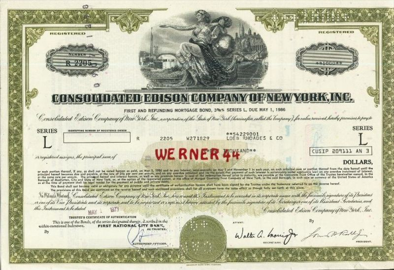Consolidatend Edison Company of New York, Inc. von 1973   (40537)
