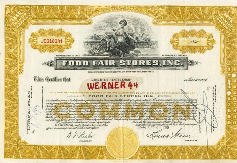 Food Fair Stores, Inc. von 1958   (40542)