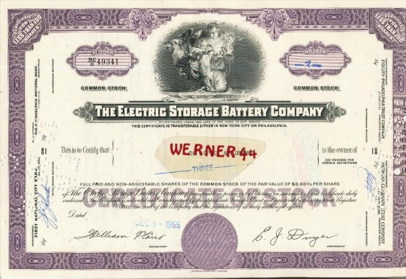 The Electric Storage Battery Company von 1966  (40545)