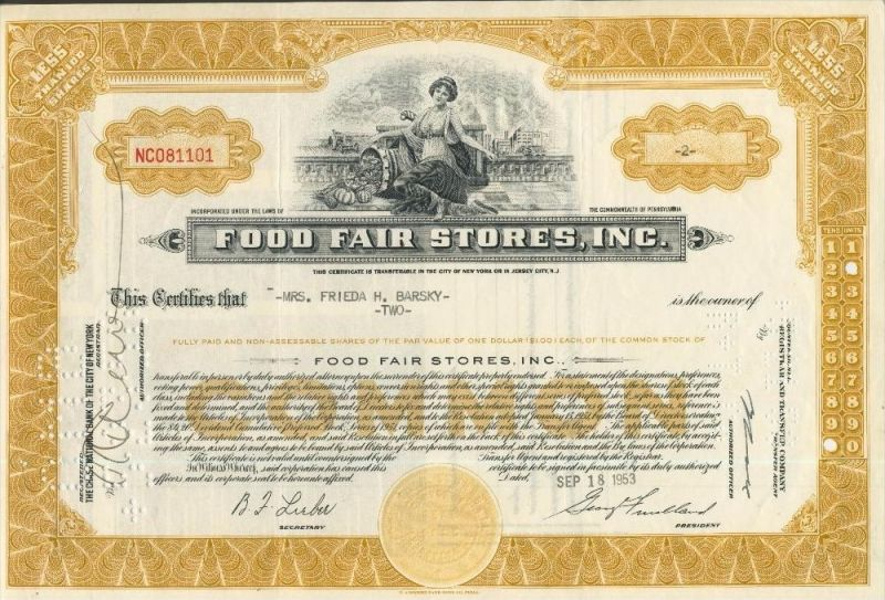 Food Fair Stores, Inc. von 1953   (44001)