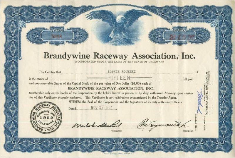 Brandywine Raceway Association, Inc.(44029)