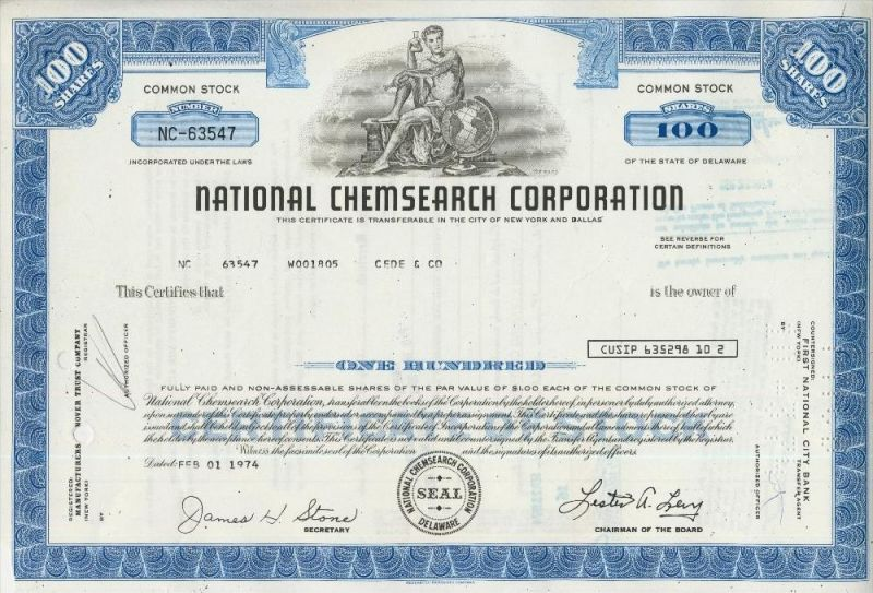 National Chemsearch Corporation  (44033)