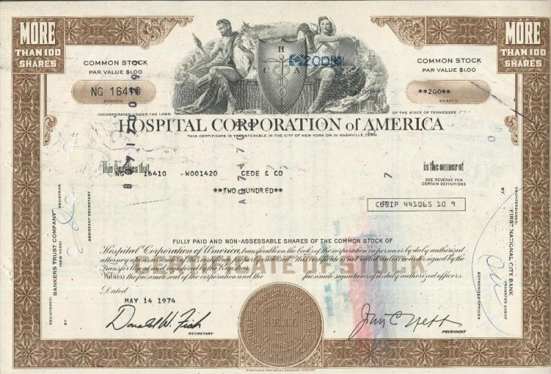 Hospital Corporation of America  (44037)