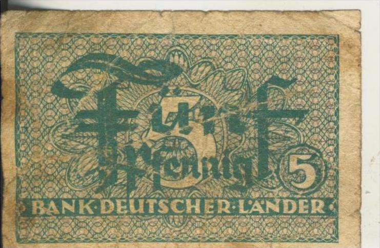 Bundesrepublik Deutschland - Bank Deutscher Länder von 1948  5 Pfennig  (44251)