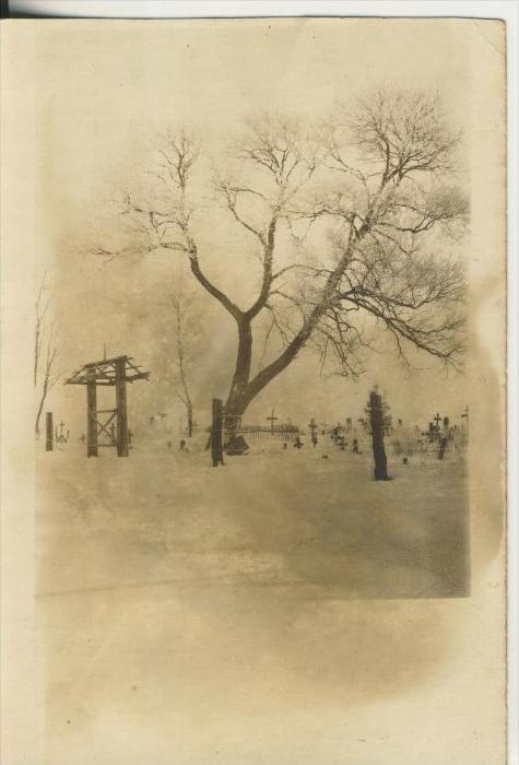 Soldatenkarte v. 1917  Ein Soldatenfriedhof in Frankreich ? (44916)