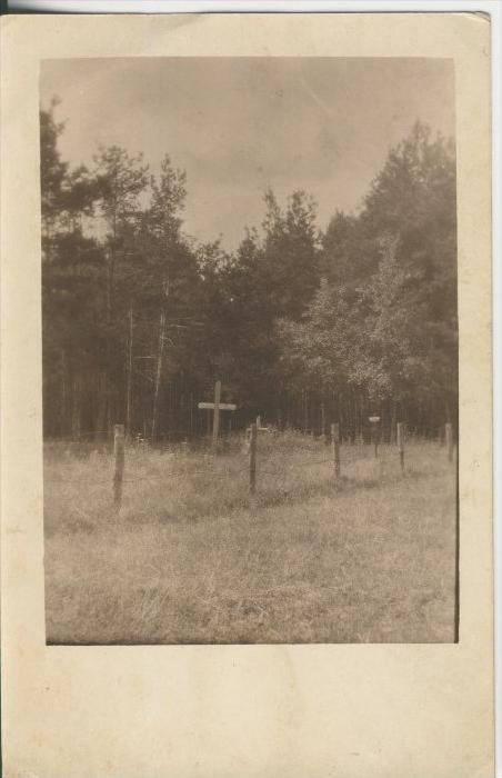 Soldatenkarte v. 1917  Ein Soldatenfriedhof in Frankreich ? (44917)