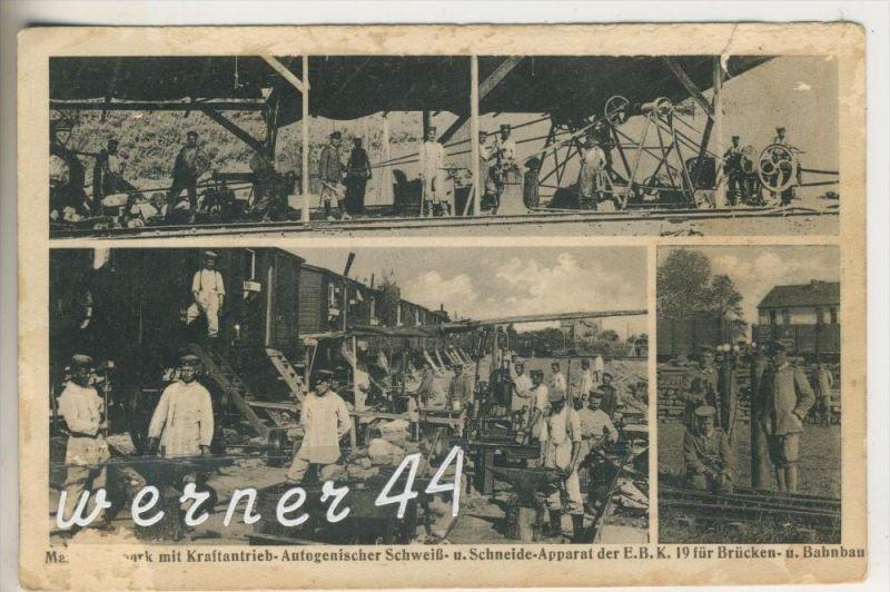 Kraftantrieb & Schweißtechnik v.1916 Der E.B.K. 19 für Brücken und Bahnbau  (9438)
