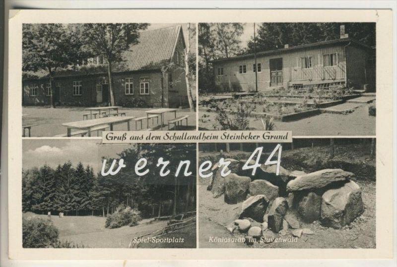 Steinbecker Grund v.1955 Schullandheim,Sportplatz,Königsgrab im Stuvenwald (15499-029)